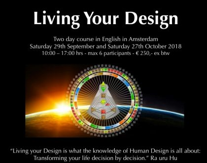 Living Your Design course in English in Amsterdam