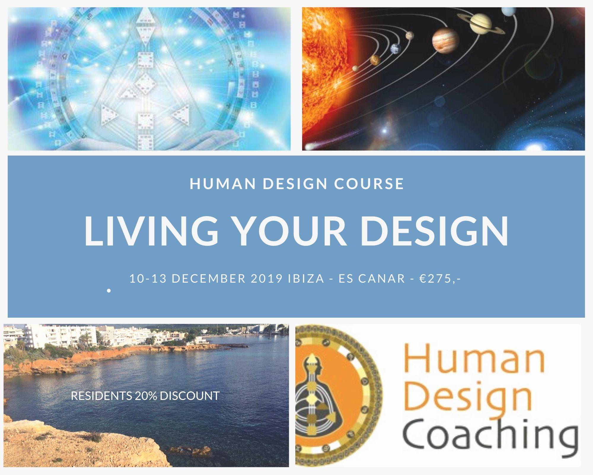 Living Your Design course in Ibiza 10-13 December 2019