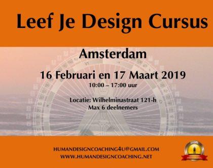 Leef Je Design Cursus Amsterdam 17/2 en 16/3
